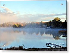 A Cold October Morning Acrylic Print by Terri Gostola