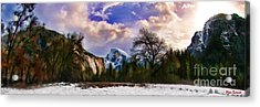 A Cold Yosemite Half Dome Morning Acrylic Print