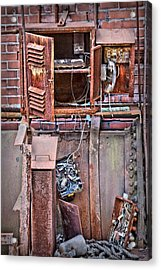 Acrylic Print featuring the photograph A Collaboration Of Rust by DJ Florek