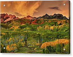 Acrylic Print featuring the photograph A Colorado Autumn Along Kebler by John De Bord
