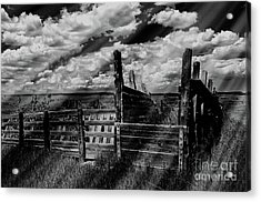 A Colorado Landscape In Black And White  Acrylic Print