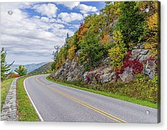 Acrylic Print featuring the photograph A Colorful Curve On Skyline Drive by Lori Coleman