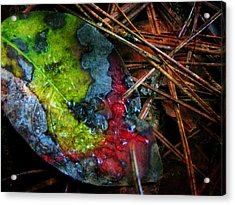 A Colorful Death Acrylic Print by Leah Moore
