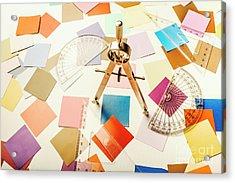 A Colourful Blueprint Acrylic Print