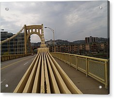 A Confounded Bridge Acrylic Print by Jacob Stempky
