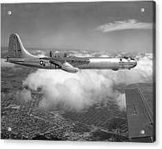 A Convair B-36f Peacemaker Acrylic Print by Underwood Archives