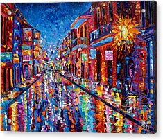 A Cool Night On Bourbon Street Acrylic Print