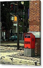 A Corner In Edmonton Acrylic Print by Mario Brenes Simon