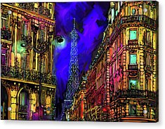 A Corner In Paris Acrylic Print by DC Langer