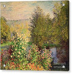 A Corner Of The Garden At Montgeron Acrylic Print by Claude Monet