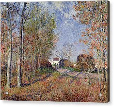 A Corner Of The Woods At Sablons Acrylic Print by Alfred Sisley