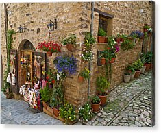 A Corner Store In Spello Italy Acrylic Print