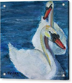 A Couple Of Swans Acrylic Print