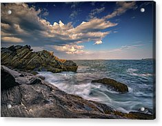 A Cove On Muscongus Bay Acrylic Print by Rick Berk