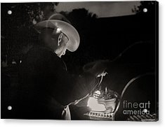 A Cowboys Dinner Acrylic Print by Sherry Davis