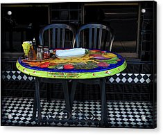 A Cozy Table For Two Acrylic Print
