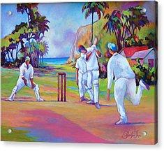 A Cricket Game Acrylic Print