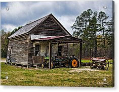A Crooked Little Barn Acrylic Print by Christopher Holmes