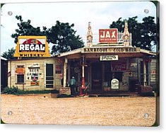 A Cross Roads Store, Bar, Juke Joint Acrylic Print by Everett