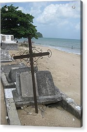 A Cross To Bear Acrylic Print by Robert Margetts
