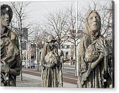 A Cruel World The Famine Sculpture Acrylic Print