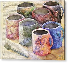 A Cuppa Acrylic Print by Terry Honstead