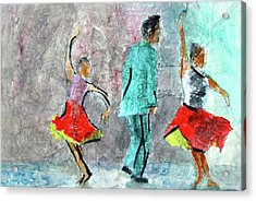 A Dance For Three Acrylic Print by Donna Crosby