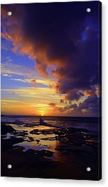 Acrylic Print featuring the photograph A Dark Cloud Among Colour by Tara Turner