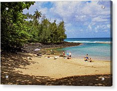 A Day At Ke'e Beach Acrylic Print