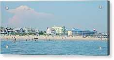 Acrylic Print featuring the photograph A Day At The Beach - Cape May New Jesey by Bill Cannon