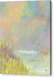 Acrylic Print featuring the painting A Day At The Beach by Frances Marino