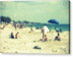 Acrylic Print featuring the photograph a day at the beach I by Hannes Cmarits