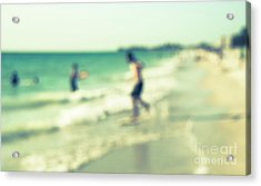 Acrylic Print featuring the photograph a day at the beach III by Hannes Cmarits