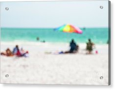 Acrylic Print featuring the photograph a day at the beach IV by Hannes Cmarits