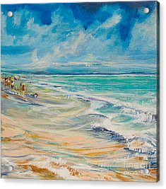 A Day At The Beach Acrylic Print by Michele Hollister - for Nancy Asbell