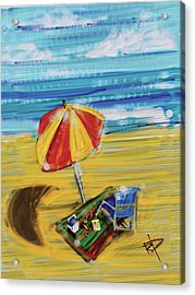A Day At The Beach Acrylic Print by Russell Pierce