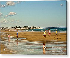 A Day At Wells Beach Acrylic Print by Edward Sobuta