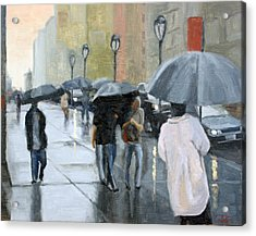 A Day For Umbrellas Acrylic Print