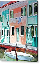 Acrylic Print featuring the painting A Day In Burrano by Patricia Arroyo