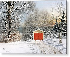 A Day In December Acrylic Print by Conrad Mieschke