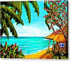 A Day In Paradise Hawaii Beach Shack  #360 Acrylic Print by Donald k Hall