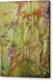A Day In The Flowers Acrylic Print by Georgia Annwell