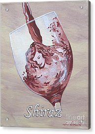 A Day Without Wine - Shiraz Acrylic Print by Jennifer  Donald
