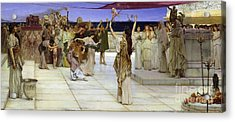 A Dedication To Bacchus Acrylic Print by Sir Lawrence Alma Tadema