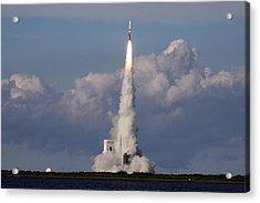 A Delta Iv Rocket Soars Into The Sky Acrylic Print