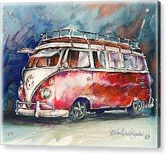 A Deluxe 15 Window Vw Bus Acrylic Print