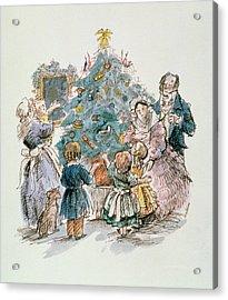 A Dickensian Christmas  The Tree Acrylic Print by Carol Walklin