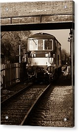 A Diesel Engine At Swindon And Cricklade Railway Acrylic Print by Steven Sexton