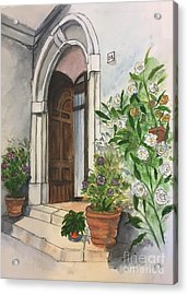 A Door In Castellucco, Italy Acrylic Print