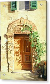 A Doorway In Tuscany Acrylic Print by Bob Nolin